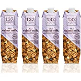 137 Degrees Walnut Milk Original (1 Litre X 4) [ Non Dairy , Vegan Milk Substitute ]