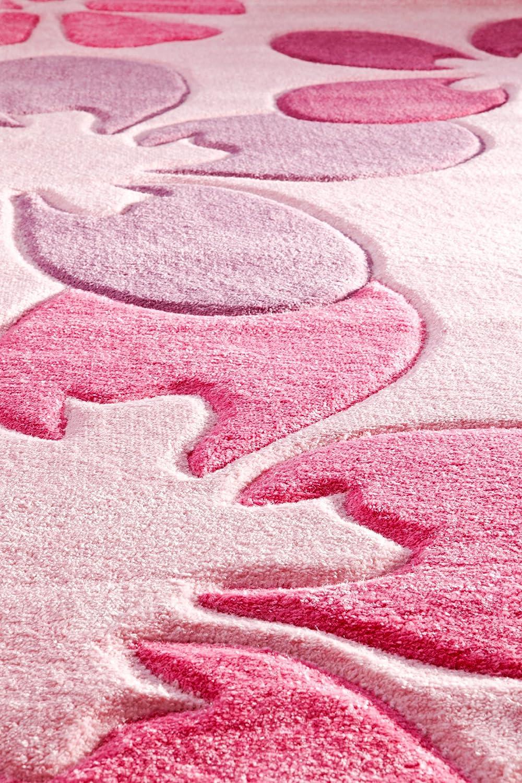 Kinderteppich grün rosa  Kinderteppich Mädchenteppich Blumenteppich Kinderzimmer ...