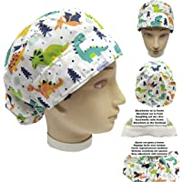 Cappellino da infermiera DINOSAURI per Capelli Lunghi Chirurgo dentale ventrale assorbente sulla fronte regolabile a…