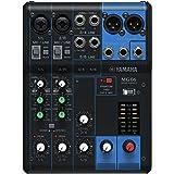 Yamaha MG06 - Console de mixage compacte avec 6 canaux d'entrée et préamplis micro D-PRE