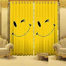 B7 Creations Digital Print Eyelet Curtain (1 Piece) - 5 Feet (Window)