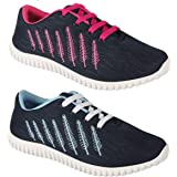 WORLD WEAR FOOTWEAR Women Multicolour Latest Collection Sports Running Shoes-Pack of 2 (Combo-(2)-5027-5026)
