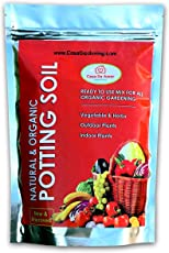 Organic Potting Soil Mix Ready to use organic fertilizer nutrients balanced water absorption prevents root-rot light weight terrace gardening and indoor plants, contains neem powder, beneficial microbes for flowers vegetables and ornamental plants