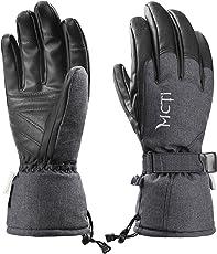 MCTi Skihandschuhe Herren Winter Wasserdicht Snowboard Handschuhe Warm Winterhandschuhe Thermo Thinsulate