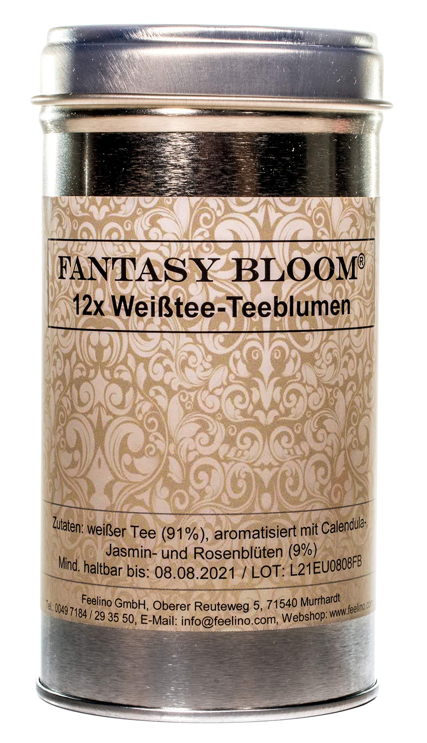 Feelino-2x-12-Stck-Premium-Teeblumen-TeerosenFantasy-Bloom-Erblhtee-in-Probier-und-Geschenkdose-mit-BookletBedienungsanleitung
