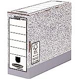 Fellowes 1080503 Pack de 10 Boîtes d'Archives Montage Automatique Gris