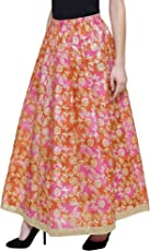 DAMEN MODE Women Royal Silk Skirt