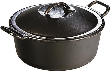 Lodge Pro-Logic P10D3 Cast Iron Dutch Oven, Black, 4-Quart