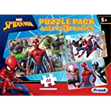 Frank Marvel Spider-Man Puzzles - 60 Pieces 3 in 1 Jigsaw Puzzle Pack for Kids for Age 5 Years Old and Above