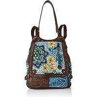 Desigual Fabric Backpack Big, Zaino Donna, Blu, Medium