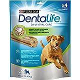 Purina DentaLife Maxi Hunde-Zahnpflege-Snacks reduziert Zahnsteinbildung, Huhn, große Hunde, 5er Pack (5 x 142 g)
