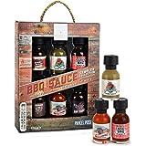 Modern Gourmet Foods BBQ Saucen Probier-Set - Geschenk-Set Mit 6 Kleinen Grill-Saucen à 21 g - International Inspiriert