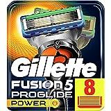 Gillette Fusion5 ProGlide Power, 8 Lame di Ricambio per Rasoio per Rifinire le Aree Difficili, Dotato di Striscia Lubrificant