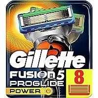 Gillette Fusion5 ProGlide Power, 8 Lame di Ricambio per Rasoio per Rifinire le Aree Difficili, Dotato di Striscia…