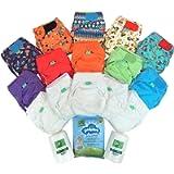 TotsBots Everyday EasyFit Reusable Washable Nappy Kit - One Size