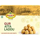 Dhampure Speciality Gur Atta Laddu|Ladoo - Gur Based Desi Ghee Indian Sweets - 500g (Pack of 1 - 500g Each)