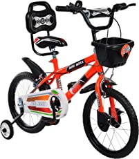 Mad Maxx Steel Kids 16T BMX Road Cycle, 16 inches (Neon Red) for 4 to 6 Years Child