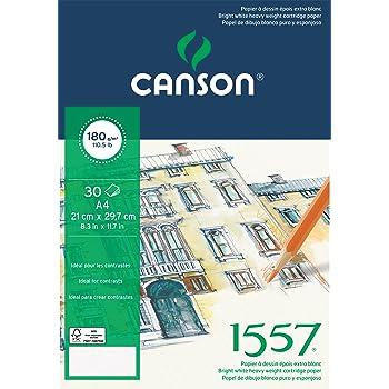 Canson 400060600 C a grain Zeichenpapier naturwei/ß A4