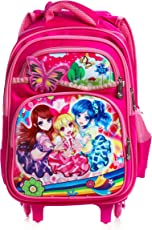Dolphy Polyester Doll Design Children's Trolley Bag(Pink)