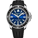 Stuhrling Original Mens Dive Watch - Pro Sport Diver con corona a vite e resistente all'acqua fino a 200 m. - Quadrante analo