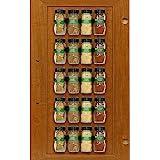SimpleHouseware Spice Gripper Clips Strips Cabinet Holder - 4 Strips, Holds 20 Jars, Black