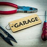 Portachiavi personalizzato con nome in legno di rovere inciso personalizzato per capannone