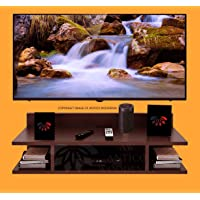 ANTICO WOODENIA® Wooden Floating Set top Box Stand| Wall Shelf| Wall Mount| Wall Bracket| Wall Rack| Wall Mounted Stand…