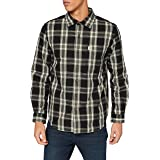 Carhartt Long-Sleeve Essential Open Collar Shirt Plaid Camisa para Hombre