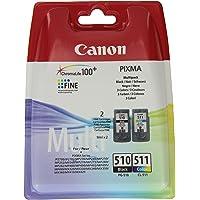 Canon PG-510/CL-511 Cartuccia Originale Getto d'Inchiostro Multipack 9 ml, Nero / Multicolor