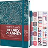 Legend Planner Hourly Schedule Edition – Deluxe Weekly & Daily Organizer with Time Slots. Time Management Appointment Book Jo