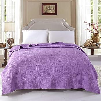 alicemall couverture couvre lit dessus de lit matelass 200x230 courtepointe boutis jet de lit 2 - Dessus De Lit Violet