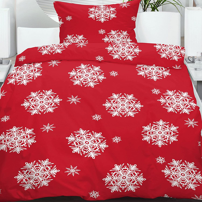 Charming Microfaser Flanell Winter Bettwäsche 135x200 Cm 100% Polyester 4 Tlg  Sparset Bettgarnitur, Dessin:Dessin 2: Amazon.de: Küche U0026 Haushalt