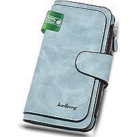 Geldbörse Damen Groß Portemonnaie Damen Vegan mit RFID Schutz | Portmonee Geldbeutel für Frauen Weich Leder Brieftaschen…
