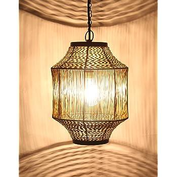 Design Villa Black Hanging Light Ceiling Light Lamp Pendent for Ceiling Modern(Suited for Home Decoration,Living Room,Balcony,Outdoor,Garden,Kitchen, Dining Table etc) B22 Holder Set of 1 Pc