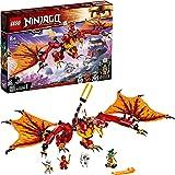 LEGO 71753 NINJAGO Legacy Fire Dragon Attack Toy with Kai, Zane and Nya Minifigures
