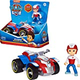 PAW PATROL Ryder's Vehicle with Collectible, for Kids Aged 3 and up Ryder's Rescue ATV vehículo con Figura Coleccionable, par