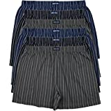 MioRalini 12 or 6 Men's Soft Cotton Boxershorts Multicolored with and Without Button and Fly