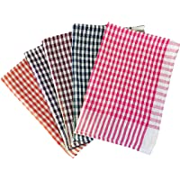 Shop By Room Kitchen Duster Wet Dry Cotton Cleaning Cloth/Mop 16 x 24 inch (Pack of 5) - Assorted Colour
