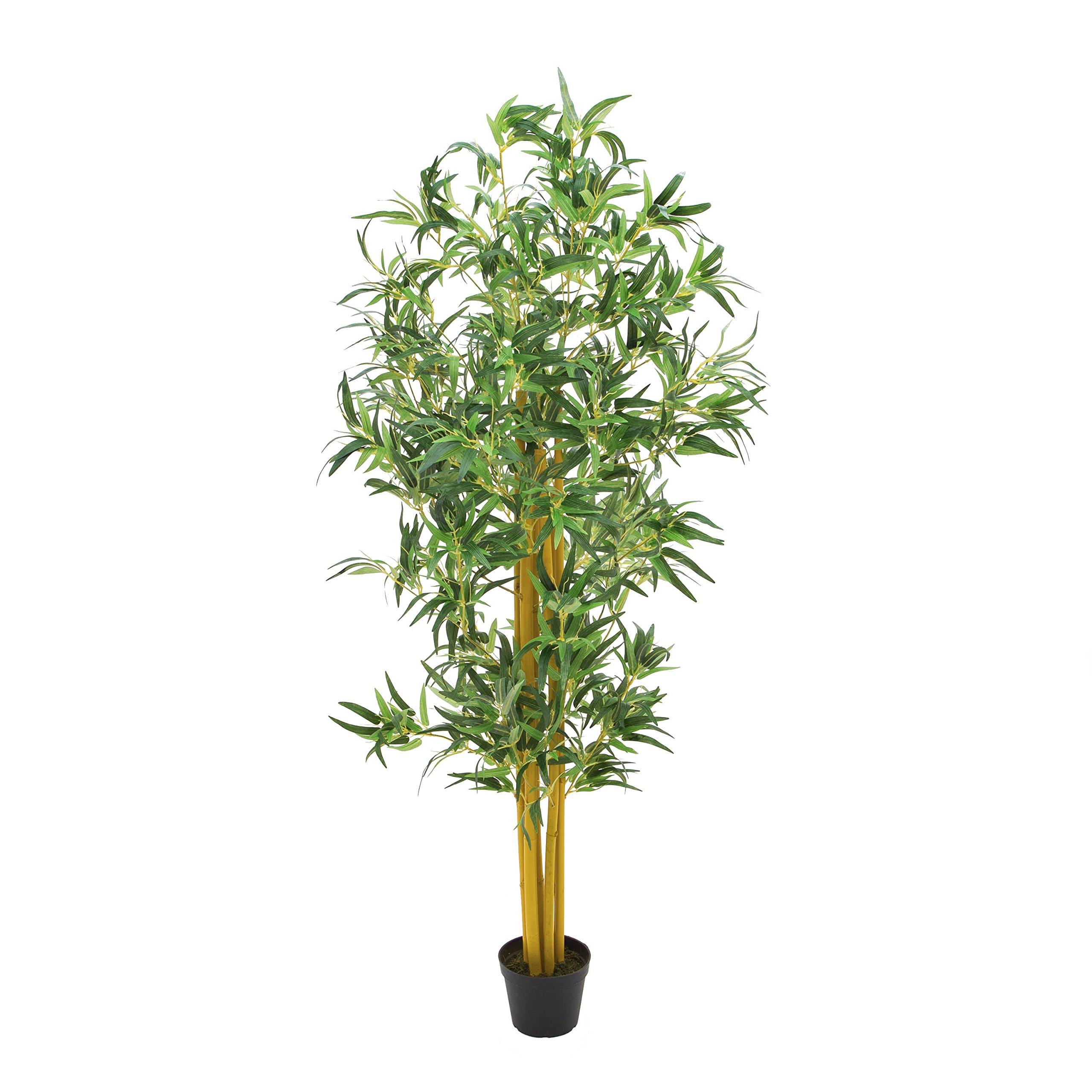 artplants.de Bambú Artificial con cañas Naturales, 180cm – Planta Artificial – árbol sintético