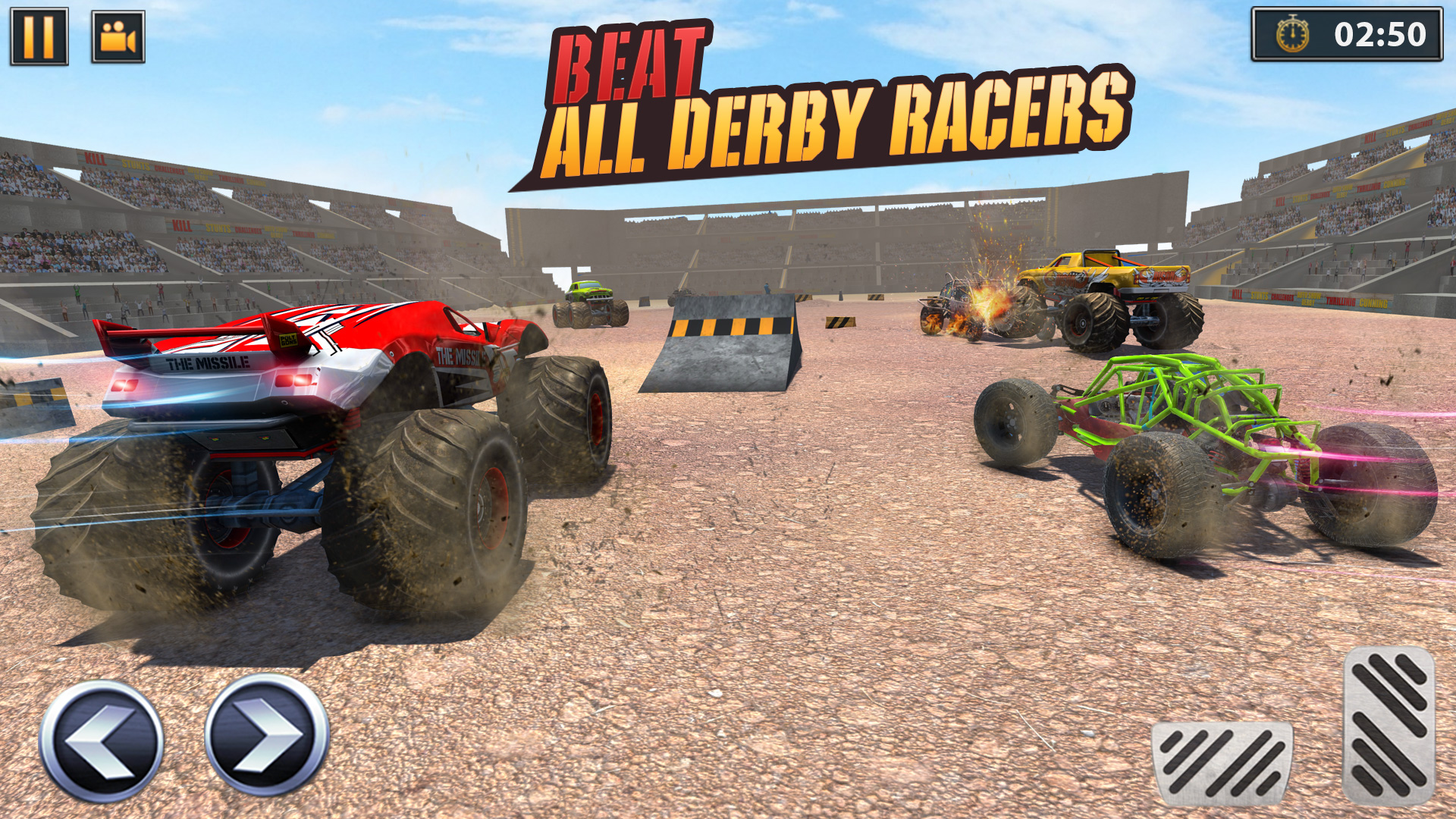 Real Derby Crash Stunts Monster Truck Demolition Amazon In Appstore For Android
