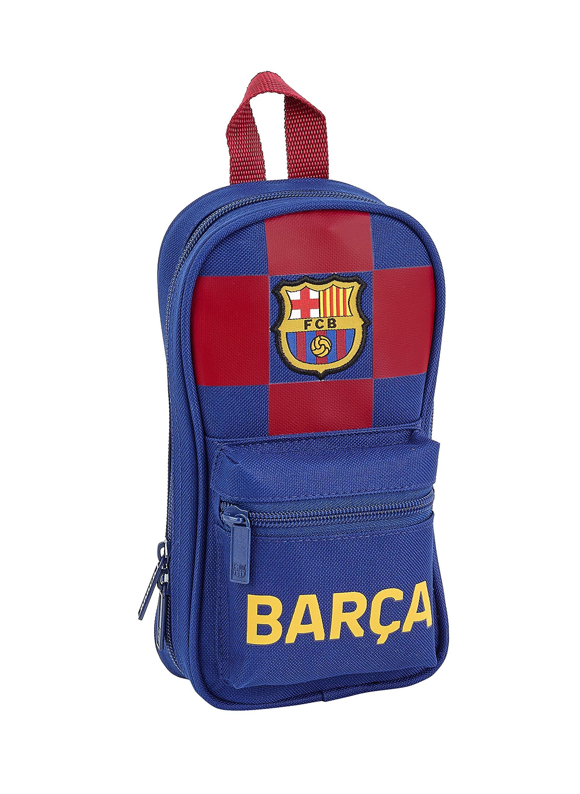 FC Barcelona Plumier Mochila 4 Estuches llenos, 33 Piezas, Escolar