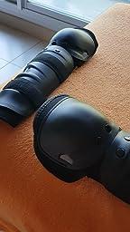 Docooler - Par de rodilleras para moto racing, protectores de rodilla con panles y cintas