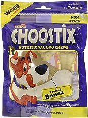 Choostix Pressed Dog Bone, Mini (3-inch x 6 Pieces)
