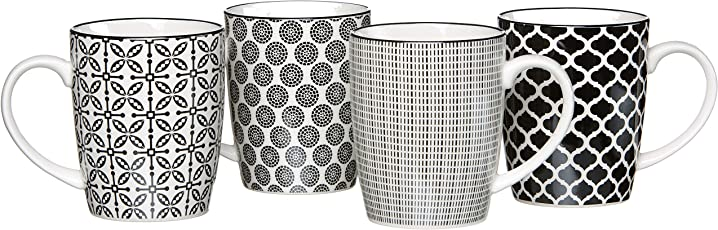 Ritzenhoff & Breker Geschirr, Porzellan, Weiß/Schwarz