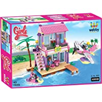 Webby Dream Girl's Beach Villa Building Set (Multi-Color, 423 Count)
