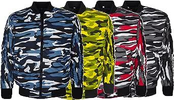 Men's MA1 Harrington Style Jacket Military Army Camouflage Bomber Coat