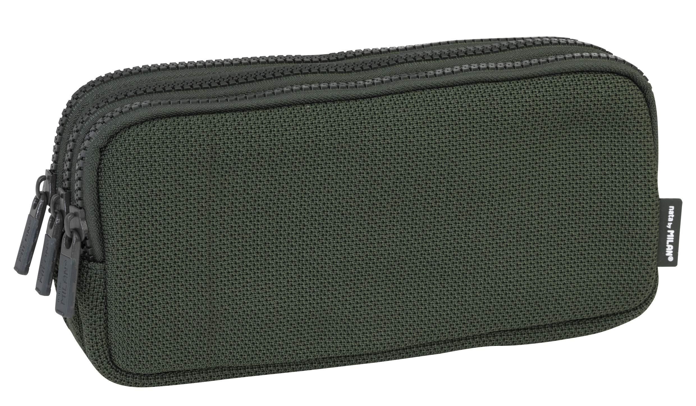 MILAN Portatodo 3 Cremalleras Knit Khaki Green Estuches, 22 cm, Verde