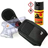 Security-Discount Germany - Spezial Gürtelholster für Guardian Angel 2/3 im Set mit 40ml Dragon Blackcap Pfefferspray