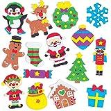 Baker Ross Autocollants de Noël en Mousse (Paquet de 120) - Loisirs créatifs festifs pour Enfants