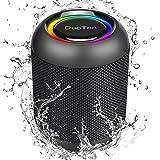 DuoTen Altavoz Bluetooth, Altavoz Portatil Bluetooth Con Luces, IPX7, 24 Hora, 20W, Sonido Envolvente De 360 °, Graves Profun